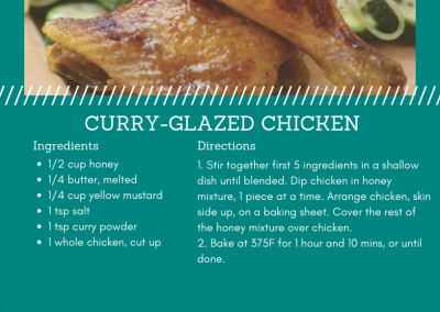 Baked Curry-Glazed Chicken