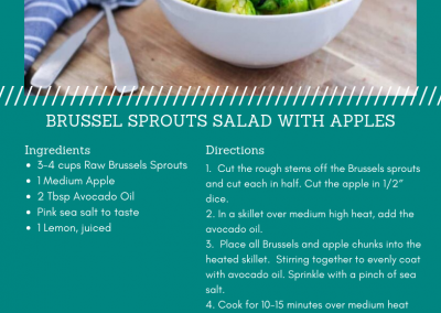 Brussel Sprouts Salad with Apples