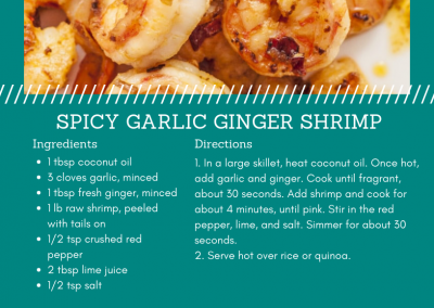 Spicy Garlic Ginger Shrimp