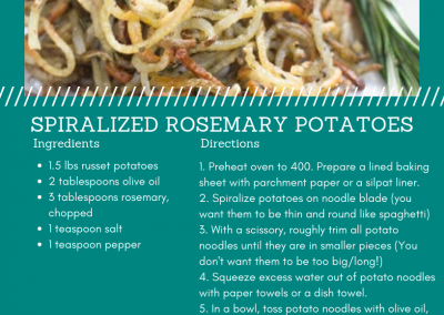 Spiralized Rosemary Potatoes