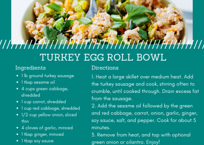 Turkey Sausage Egg Roll Bowl