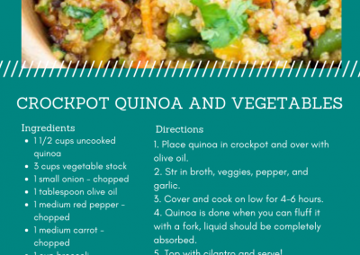 Crockpot Quinoa & Veggies